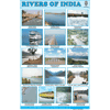 RIVERS OF INDIA SIZE 24 X 36 CMS CHART NO. 202 - Indian Book Depot (Map House)