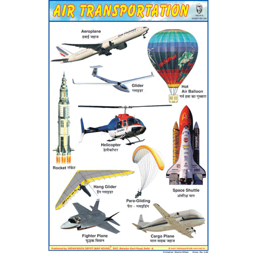 AIR TRANSPORTATION SIZE 24 X 36 CMS CHART NO. 205 - Indian Book Depot (Map House)