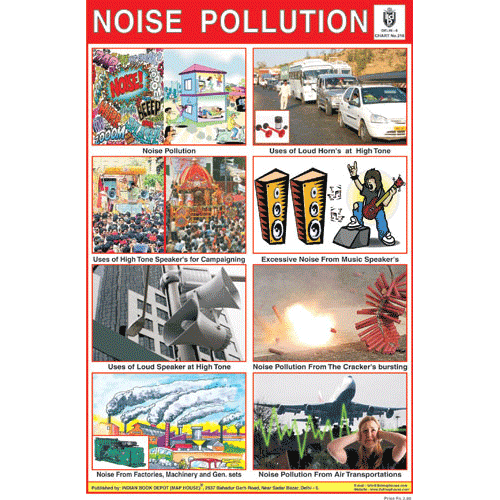 NOISE POLLUTION SIZE 24 X 36 CMS CHART NO. 218 - Indian Book Depot (Map House)
