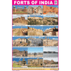 FORTS OF INDIA CHART SIZE 12X18 (INCHS) 300GSM ARTCARD - Indian Book Depot (Map House)