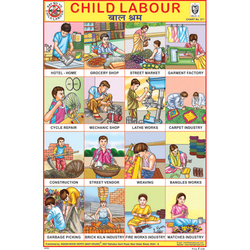 CHILD LABOUR SIZE 24 X 36 CMS CHART NO. 271 - Indian Book Depot (Map House)