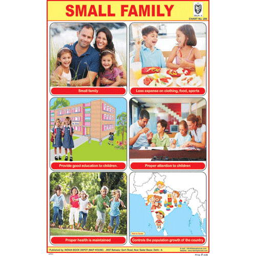SMALL FAMILY CHART SIZE 12X18 (INCHS) 300GSM ARTCARD - Indian Book Depot (Map House)