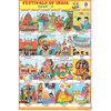 FESTIVALS OF INDIA (PART II) CHART SIZE 12X18 (INCHS) 300GSM ARTCARD - Indian Book Depot (Map House)