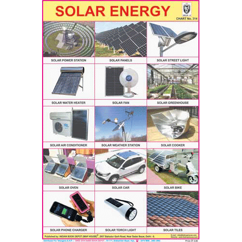 SOLAR ENERGY SIZE 24 X 36 CMS CHART NO. 314 - Indian Book Depot (Map House)