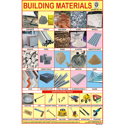 BUILDING MATERIALS SIZE 24 X 36 CMS CHART NO. 317 - Indian Book Depot (Map House)
