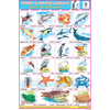 FISHES & AQUATIC ANIMALS CHART SIZE 12X18 (INCHS) 300GSM ARTCARD - Indian Book Depot (Map House)