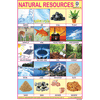 NATURAL RESOURCES  SIZE 24 X 36 CMS CHART NO. 321 - Indian Book Depot (Map House)