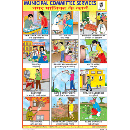 MUNICIPAL COMMITTEE SERVICES SIZE 24 X 36 CMS CHART NO. 65 - Indian Book Depot (Map House)