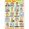 AUTHOR'S OF INDIA SIZE 24 X 36 CMS CHART NO. 6 - Indian Book Depot (Map House)