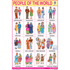 PEOPLE OF THE WORLD SIZE 24 X 36 CMS CHART NO. 75 A - Indian Book Depot (Map House)