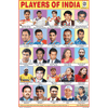 PLAYERS OF INDIA SIZE 24 X 36 CMS CHART NO. 77 - Indian Book Depot (Map House)