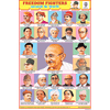 AZADI KE SENANI (FREEDOM FIGHTERS) CHART SIZE 12X18 (INCHS) 300GSM ARTCARD - Indian Book Depot (Map House)