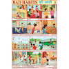BAD HABITS CHART SIZE 12X18 (INCHS) 300GSM ARTCARD - Indian Book Depot (Map House)