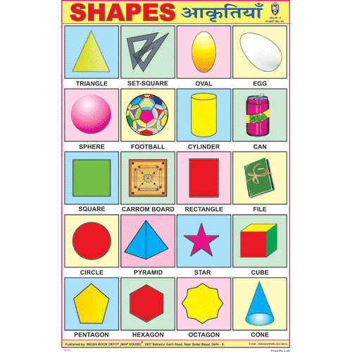 SHAPES SIZE 24 X 36 CMS CHART NO. 90 - Indian Book Depot (Map House)