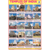 TEMPLE OF INDIA PART   1 SIZE 24 X 36 CMS CHART NO. 93 A - Indian Book Depot (Map House)