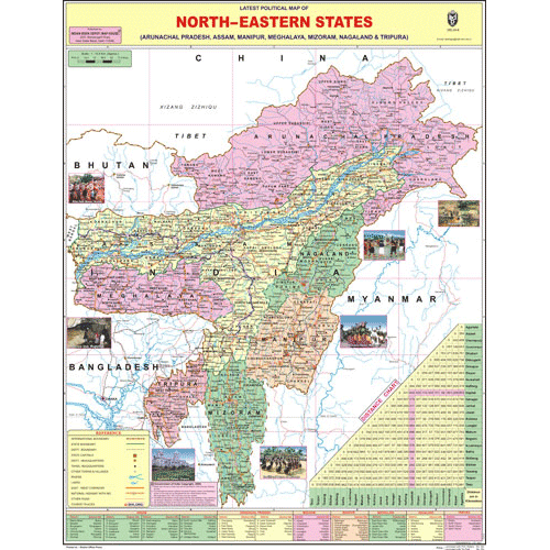 NORTH EASTERN STATES SIZE 45 X 57 CMS