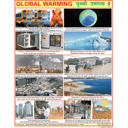 GLOBAL WARMING CHART SIZE 45 X 57 CMS - Indian Book Depot (Map House)