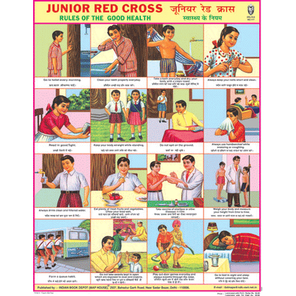 JUNIOR RED CROSS CHART SIZE 45 X 57 CMS - Indian Book Depot (Map House)