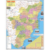 TAMIL NADU (ENGLISH) SIZE 45 X 57 CMS - Indian Book Depot (Map House)