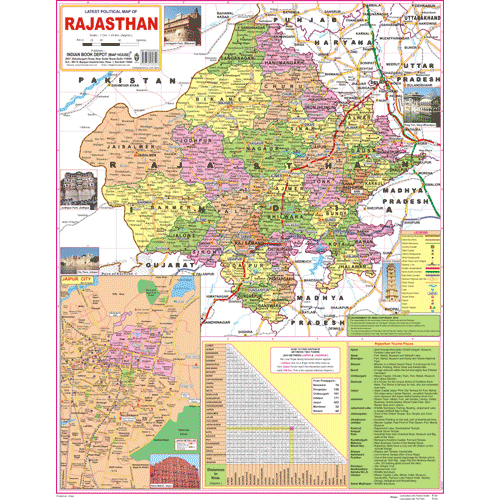 RAJASTHAN (ENGLISH) SIZE 45 X 57 CMS - Indian Book Depot (Map House)