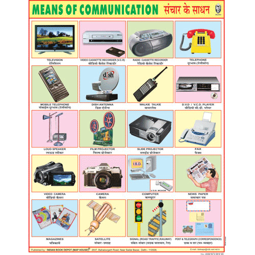 MEANS OF COMMUNICATION CHART SIZE 45 X 57 CMS - Indian Book Depot (Map House)