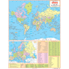WORLD POLITICAL (HINDI) SIZE 45 X 57 CMS - Indian Book Depot (Map House)
