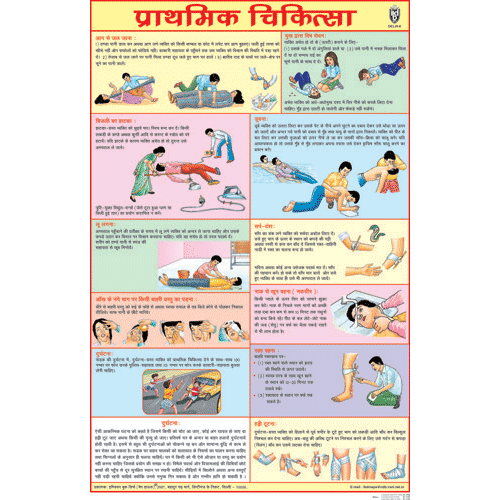 FIRST AID CHART (HINDI) CHART SIZE 50 X 75 CMS - Indian Book Depot (Map House)