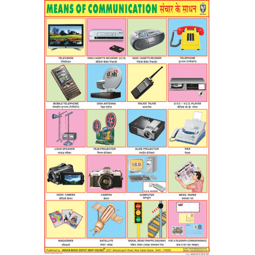 MEANS OF COMMUNICATION CHART SIZE 50 X 75 CMS - Indian Book Depot (Map House)
