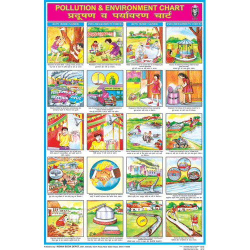 POLLUTION & ENVIRONMENT CHART SIZE 50 X 75 CMS - Indian Book Depot (Map House)