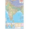 INDIA PHYSICAL (HINDI) SIZE 50 X 75 CMS - Indian Book Depot (Map House)