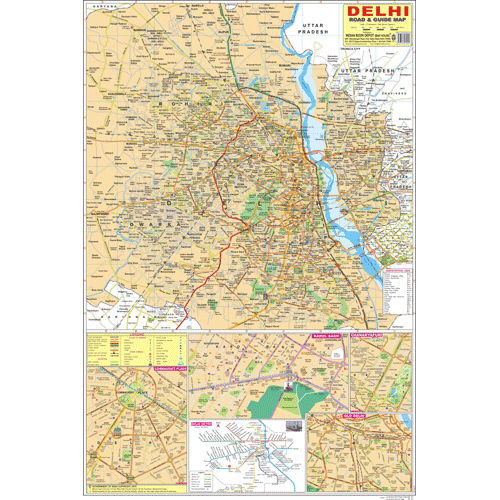 DELHI CITY (ENGLISH) SIZE 50 X 75 CMS - Indian Book Depot (Map House)