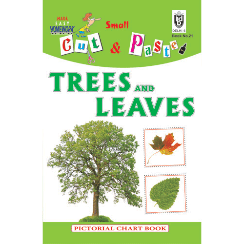 Cut and paste book of TREES AND LEAVES - Indian Book Depot (Map House)