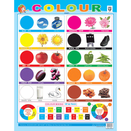 COLOURS CHART SIZE 55 X 70 CMS - Indian Book Depot (Map House)