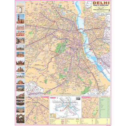CITY MAP OF DELHI (ENGLISH) SIZE 55 X 70 CMS - Indian Book Depot (Map House)