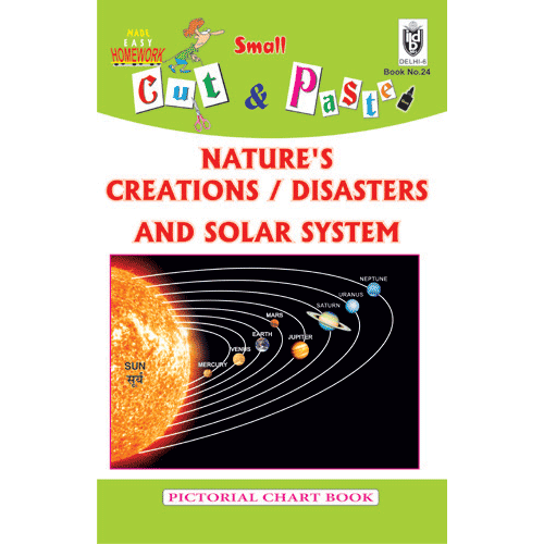 Cut and paste book of NATURE'S CREATIONS AND DISASTERS - Indian Book Depot (Map House)