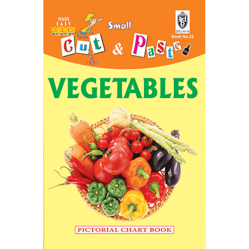 Cut and paste book of VEGETABLES - Indian Book Depot (Map House)