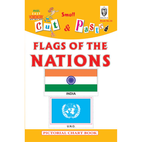 Cut and paste book of FLAGS OF THE NATIONS - Indian Book Depot (Map House)