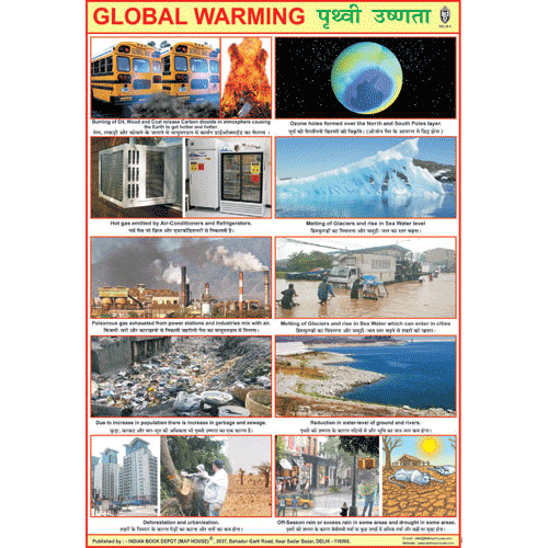 GLOBAL WARMING CHART SIZE 70 X 100 CMS - Indian Book Depot (Map House)