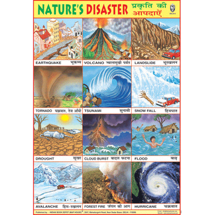 NATURE'S DISASTER CHART SIZE 70 X 100 CMS - Indian Book Depot (Map House)