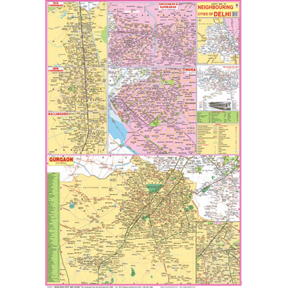 DELHI NCR (ENGLISH) SIZE 70 X 100 CMS - Indian Book Depot (Map House)