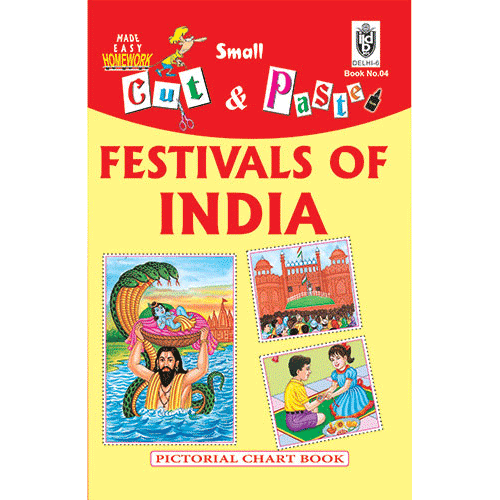 Cut and paste book of FESTIVALS OF INDIA - Indian Book Depot (Map House)