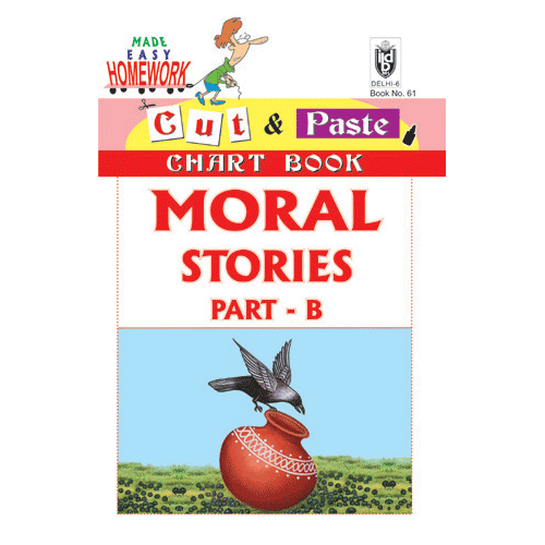 Cut and paste book of MORAL STORIES PART - B - Indian Book Depot (Map House)