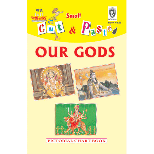 Cut and paste book of OUR GODS - Indian Book Depot (Map House)