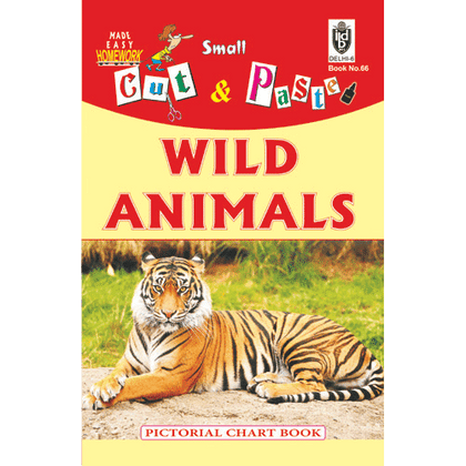 Cut and paste book of WILD ANIMALS - Indian Book Depot (Map House)