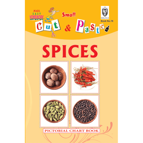 Cut and paste book of SPICES - Indian Book Depot (Map House)