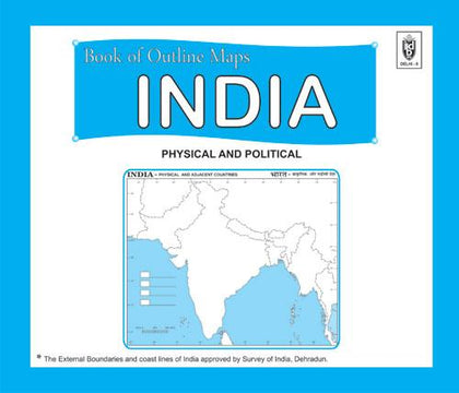 Book of Outline maps INDIA, 15 political maps|15 physical maps|small size - Indian Book Depot (Map House)