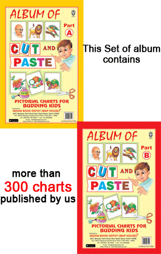 Cut and Paste Album of Charts Part A and Part B (More than 300 charts) - Indian Book Depot (Map House)