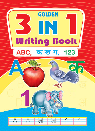 GOLDEN 3 IN 1 WRITING BOOK