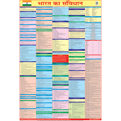 Constitution Of India chart (Hindi, 2020 latest edition), size 58 x 90 cms