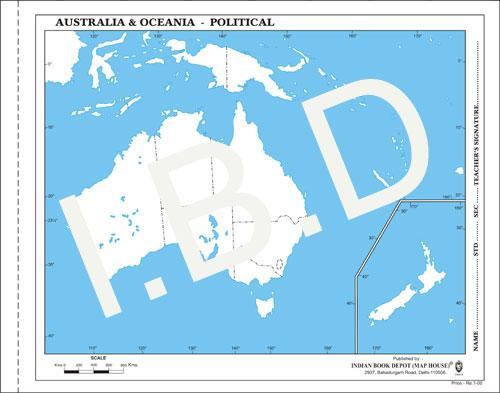 Big size | Practice Map of Australia Political |Pack of 100 Maps| Outline Maps - Indian Book Depot (Map House)